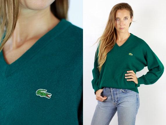LACOSTE Jumper  Sweater Lacoste Green Lacoste Sweatshirt 90s Sweater Lacoste  Lacoste Vintage  Lacoste Women  Vintage Lacoste  Green WP72