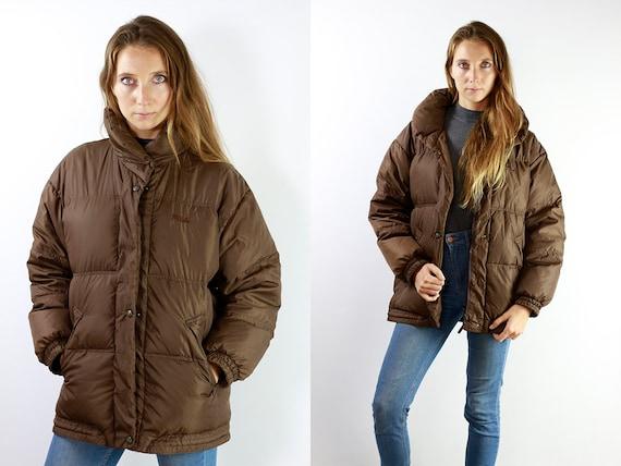 Fila Puffer Jacket  Fila 90s Jacket Fila Jacket  90s Puffer jacket Brown puffer Jacket  Fila 90s Down Jacket Fila Down Jacket
