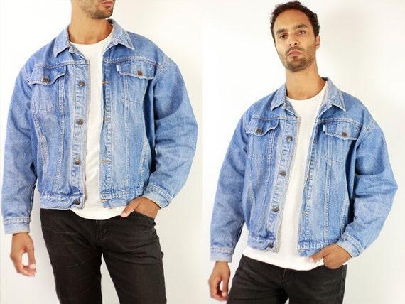 Denim Jacket Vintage Denim Jacket Oversize Jean Jacket 90s Denim Jacket 90s Jean Jacket Blue Jean Jacket Large Denim Jacket Grunge JJ248