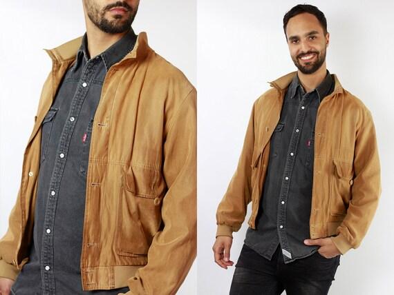Suede Jacket Brown Suede Suede Bomber Jacket Vintage Suede VEGAN Jacket Oversize Jacket Vintage Clothing 80s Suede Jacket SUJ74