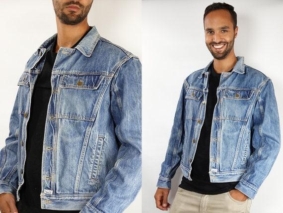 Vintage Denim Jacket Denim Jacket Jean Jacket Vintage Jean Jacket Vintage Clothing Mens Clothing 80s Denim Jacket Oversize Jean Jacket DJ146