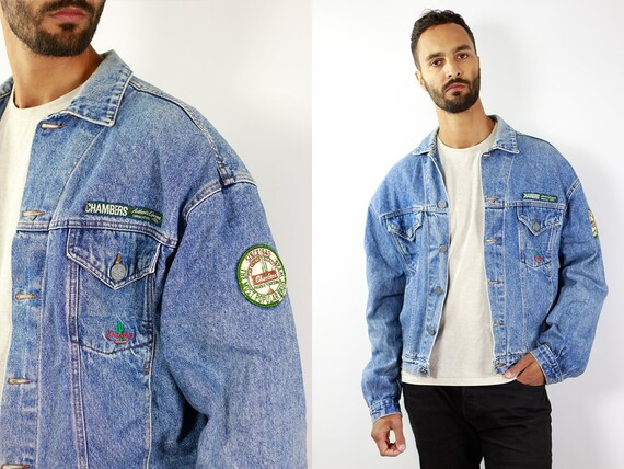 Denim Jacket Vintage Denim Jacket Oversize Jean Jacket 90s Denim Jacket 90s Jean Jacket Blue Jean Jacket Large Denim Jacket Grunge JJ240