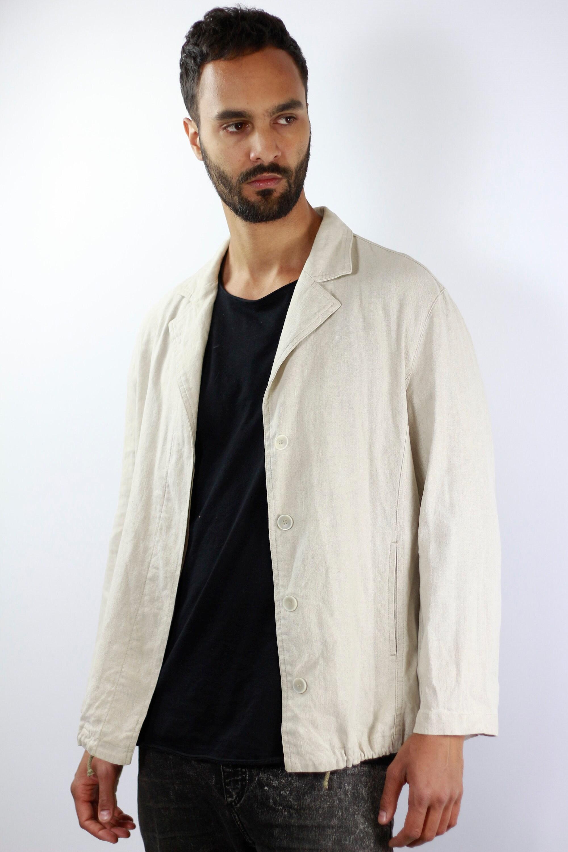 Armani Jacket Vintage Beige Linen Jacket Armani Mens Jacket Beige ...