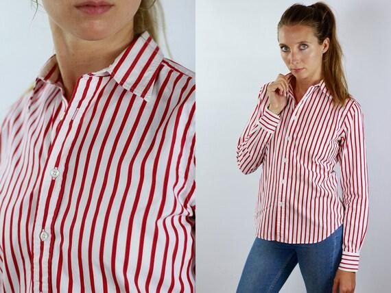 RALPH LAUREN Shirt Polo Ralph Lauren Button Up Polo Striped Shirt Women Stripe Shirt Vintage Ralph Lauren Vintage Shirt Oxford Shirt
