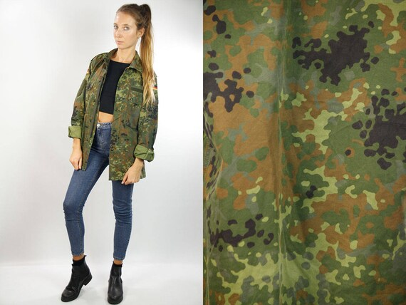 Camo Shirt / Military Shirt / Army Shirt / Camouflage Shirt / Vintage Army Shirt / Vintage Military Shirt / Shirt Camouflage / Button Shirt