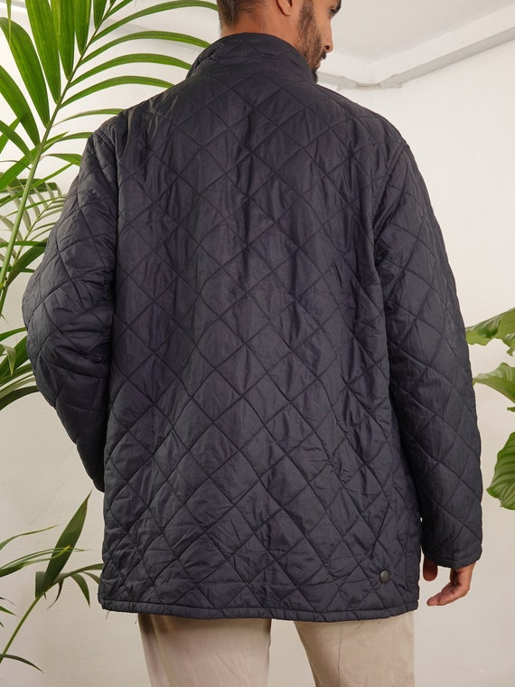 Barbour Jacket Black Quilted Barbour Coat Barbour… - image 7