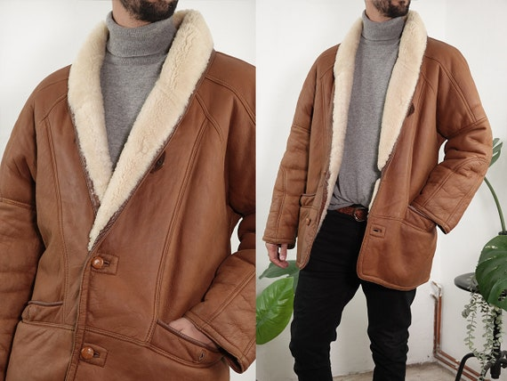 Shearling Jacket Sheepskin Brown Sherpa Jacket She
