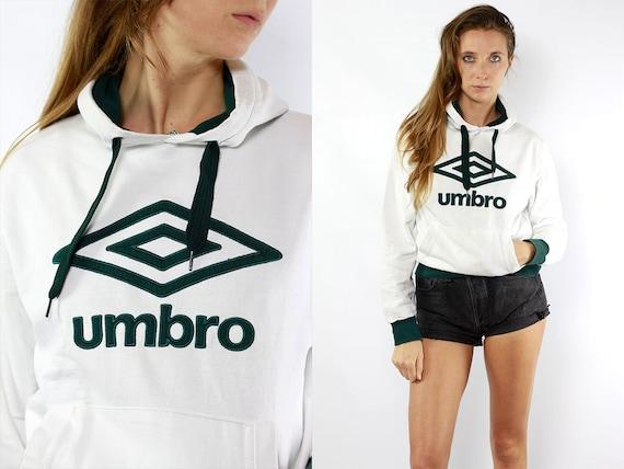White Umbro Hoodie Sweatshirt Vintage White Jumper Vintage Sweatshirt White Vintage Hoodie 90s Hoodie 90s Sweatshirt Jumper Vintage Umbro