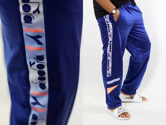 Diadora Track Pants Blue Track Pants Diadora Joggers Vintage Diadora Pants Blue Sweat Pants Vintage Blue Pants Gym Pants Diadora Joggers 90s