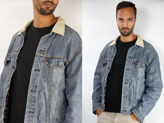 LEVIS Denim Jacket Levis Jean Jacket Large Jean Jacket 90s Levis Jacket Blue Vintage Denim Jacket Grunge Jacket Vintage Clothing DJ143