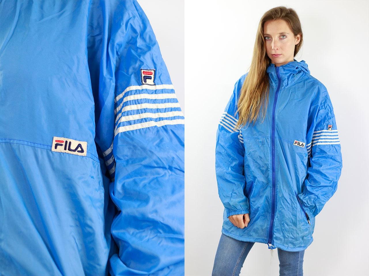 7540a61e9 Blue Fila Jacket Fila Festival Jacket Fila Rain Jacket Windbreaker Fila ...
