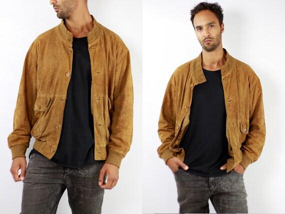 Vintage Suede Jacket Vintage Suede Bomber Suede Bomber Jacket Brown Suede Jacket Brown Bomber Jacket Soft Suede Jacket Large Suede WLJ87