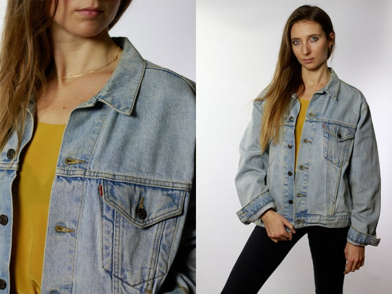 Levis Denim Jacket Levis Jean Jacket Blue Levis Jacket Vintage Levis Jacket Vintage Denim Jacket Vintage Jean jacket Oversize DJ43