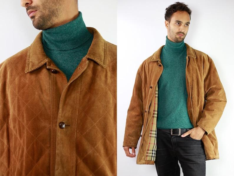 1e527d9fdd03 BURBERRYS Coat Leather Burberry Coat Men Burberry Coat Leather | Etsy
