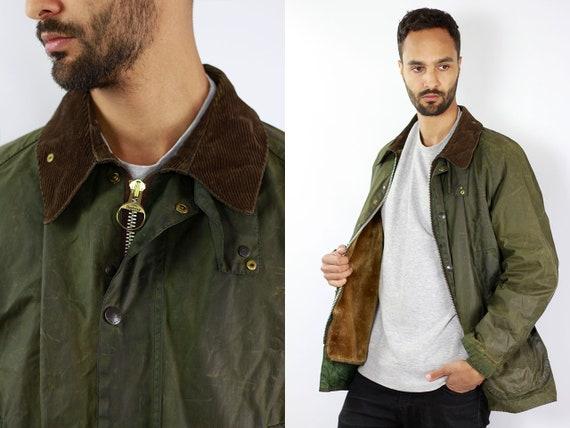 BARBOUR Bedale Coat Green Wax Coat Barbour Wax Jacket Barbour Green Barbour Coat Parka Green Coat BARBOUR Wax Jacket Wax Barbour Bedale C50