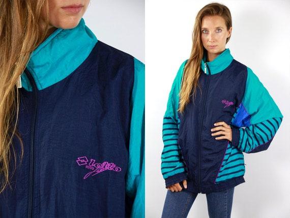 Vintage Windbreaker Jacket 90s Windbreaker Tape Windbreaker Taped Windbreaker Vintage Track Jacket 90s Track Jacket 90s Shell Jacket Lotto