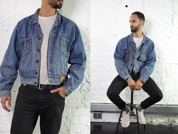 Denim Jacket Vintage Jean Jacket Blue Denim Jacket Large Denim Jacket Grunge Jean Jacket Grunge Denim Jacket Large Jean Jacket DJ203