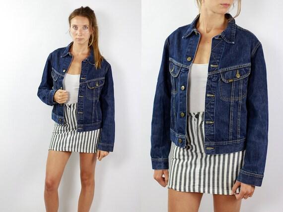 Denim Jacket Lee Vintage Jean Jacket Blue Denim Jacket Cropped Denim Jacket Cropped Jean Jacket Grunge Denim Jacket Small Jean Jacket JJ235