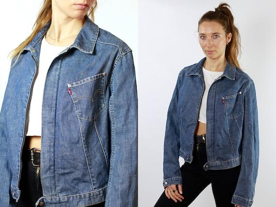 LEVIS Denim Jacket Levis Jean Jacket Large Jean Jacket 90s Levis Jacket Blue Vintage Denim Jacket Grunge Jacket Vintage Clothing DJ115