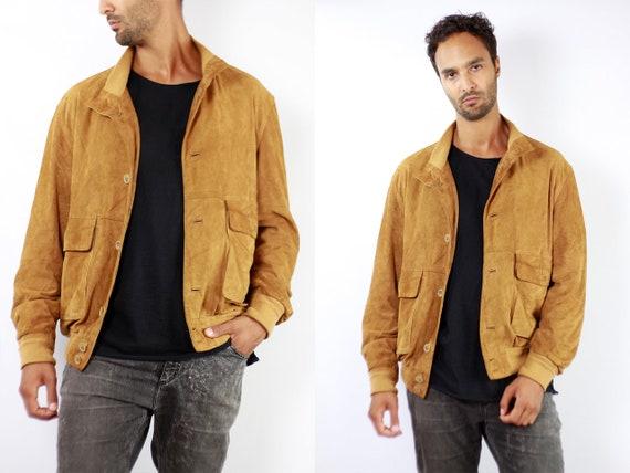 Vintage Suede Jacket Vintage Suede Bomber Suede Bomber Jacket Brown Suede Jacket Brown Bomber Jacket Soft Suede Jacket Large Suede WLJ99