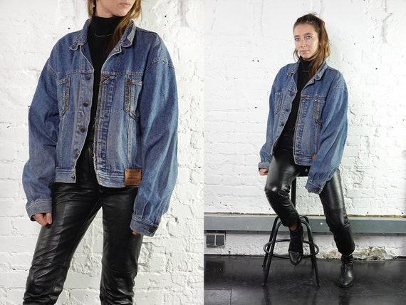 Vintage Denim Jacket Vintage Jean Jacket Festival Jacket Grunge Vintage Clothing Women Clothing 80s Denim Jacket Oversize Jean Jacket DJ203