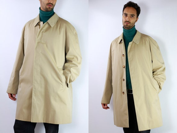 BURBERRYS Trenchcoat Vintage Burberry Coat Beige Men Trenchcoat BURBERRY Trench Coat Vintage Coat Burberry Jacket Beige Coat Burberrys CO17