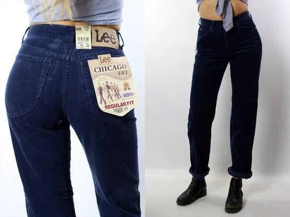 Corduroy Jeans / Corduroy Pants / High Waist Jeans / High Waist Pants / Blue Corduroy Pants / Lee Corduroy Pants / Lee Corduroy Jeans HS20
