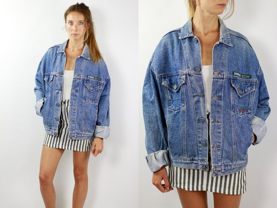 Vintage Denim Jacket Jean Jacket Denim Jacket 90s Jean Jacket Grunge Jacket Vintage Denim Jacket Denim Jackets 90s Denim Jacket Grunge JJ240
