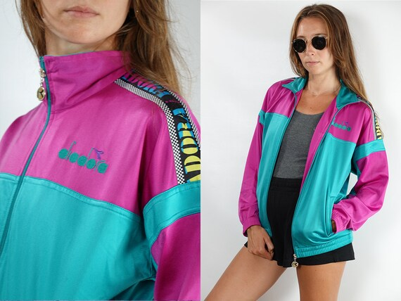 Vintage Windbreaker Vintage Track Jacket Oversize Windbreaker 90s Windbreaker Taped 90s Track Jacket Festival Jacket Vintage Clothing TJ19