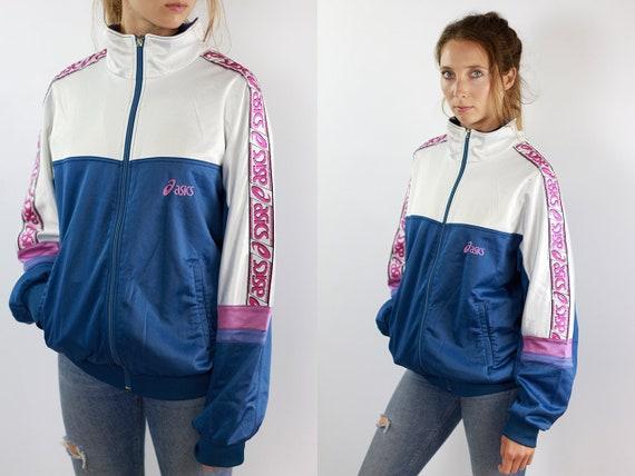 Vintage Windbreaker Asics Windbreaker Asics Jacket Vintage Track Jacket Asics Track jacket Asics Tracksuit Top Shell Jacket Nylon Jacket 90s