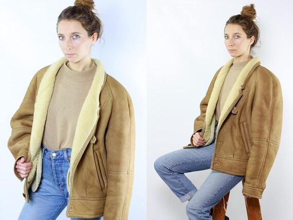 Shearling Jacket / Shearling Coat / Shearling / Sheepskin Jacket / Sheepskin Coat / Sheepskin Suede Jacket Suede Coat Brown Suede Coat WLM19
