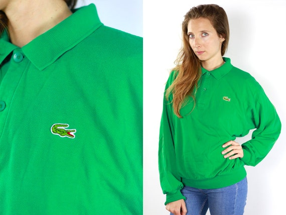 Lacoste Longsleeve Lacoste Jumper Lacoste Sweater Green Lacoste Long Sleeve Lacoste 90s Lacoste Sweatshirt Green Sweat Shirt Lacoste 90s