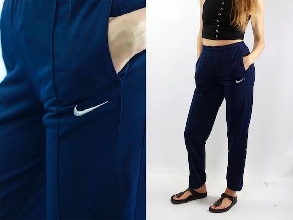 Nike Track Pants Blue Track Pants Nike Joggers Vintage Nike Pants Blue Sweat Pants Vintage Blue Pants Gym Pants Nike Joggers 90s Nike Pants