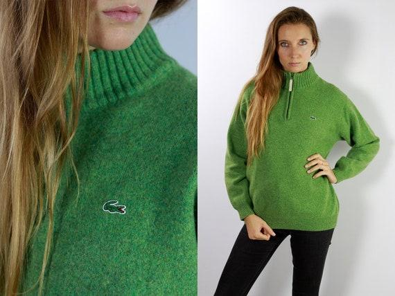 LACOSTE Jumper  Sweater Lacoste Green Lacoste Sweatshirt 90s Sweater Lacoste  Lacoste Vintage  Lacoste Women  Vintage Lacoste  Green P53