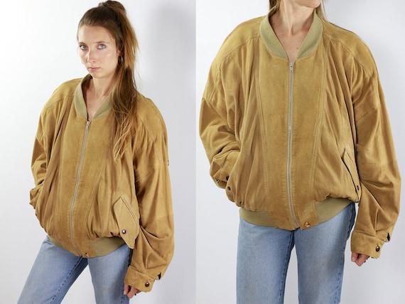Beige Suede Jacket Suede Bomber Jacket Suede Jacket Beige Vintage Suede Jacket 80s Suede Jacket Bomber Jacket Suede Jacket Leather Jacket