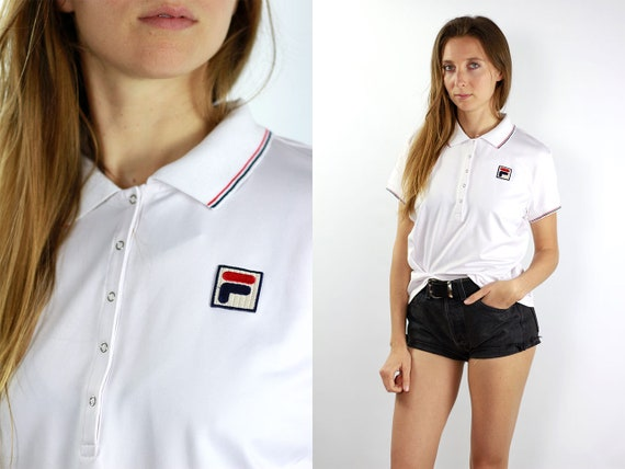 Fila Top Fila Poloshirt White Polo Shirt Fila Vintage T-Shirt 90s Top Fila T-Shirt Fila Poloshirt Fila Vintage Retro Fashion Fila Vintage