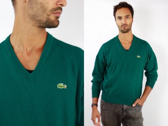 LACOSTE Jumper  Sweater Lacoste Green Lacoste Sweatshirt 90s Sweater Lacoste  Lacoste Vintage  Lacoste Men  Vintage Lacoste  Green WP72