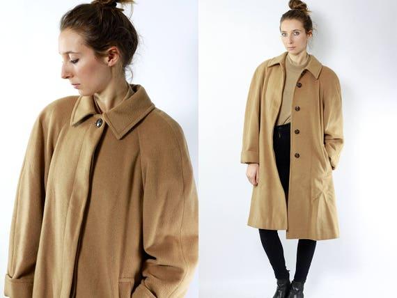 AGNONA Wool Coat Beige / Beige Wool Coat / Camel Coat Beige / Camel Coat / Camel Coat Vintage / Coat Camel / Beige Coat Wool / Vintage Coat