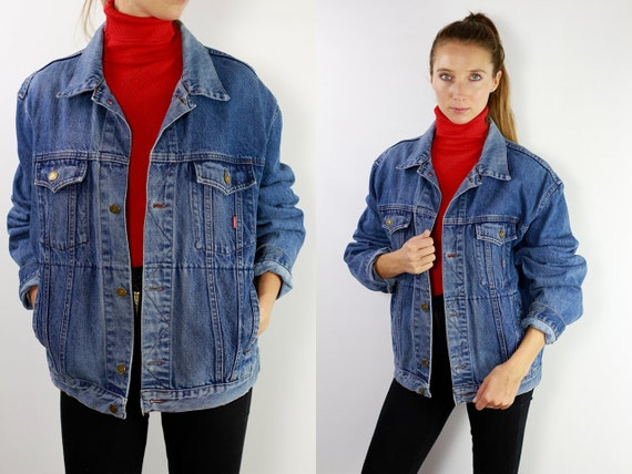 Denim Jacket Vintage Jean Jacket Blue Denim Jacket Large Denim Jacket Grunge Jean Jacket Grunge Denim Jacket Large Jean Jacket Carrera DJ12