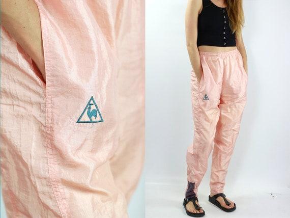 Vintage Track Pants Pink Track Pants Le Coq Sportif Joggers Vintage Le Coq Sportif Pants Pink Sweat Pants Vintage Pink Pants Gym Pants