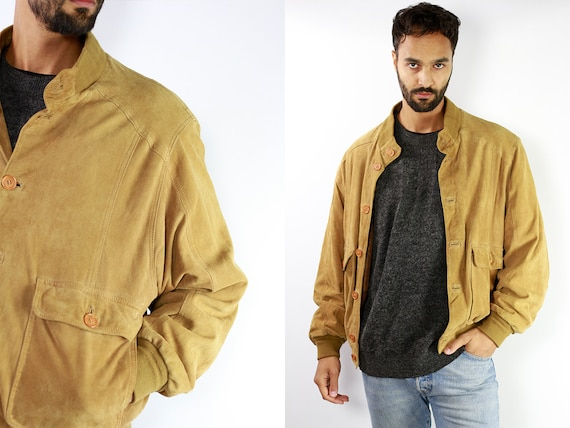 Suede Jacket, Mens Suede Jacket, Vintage Suede Jacket, Suede Bomber Jacket, Suede Jacket Brown, Leather Jacket Mens SUJ11