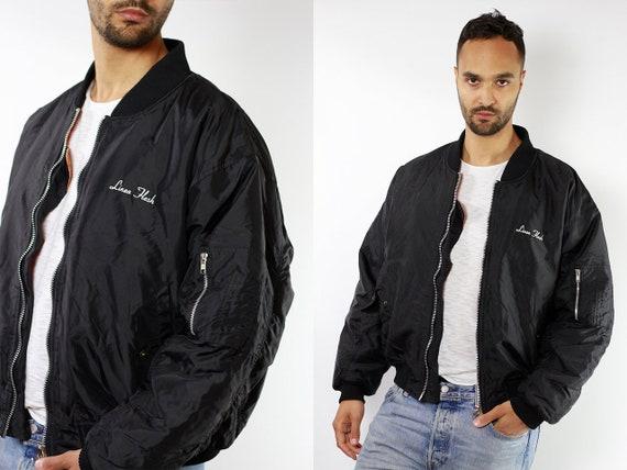 Bomber Jacket Black Bomber Jacket 90s Bomber Jacket 90s Clothing Vintage Clothing Mens Jacket Mens Bomber Jacket Vintage Bomber JA74