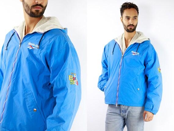 Reebok Track Jacket Vintage Reebok Windbreaker Blu