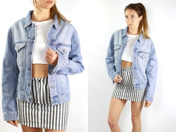 Grunge Jean Jacket 90s Denim Jacket Vintage Denim Jacket Small Denim Jacket 90s Jean Jacket Light Blue Jean Jacket Small Denim Jacket JJ252