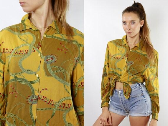 Paisley Shirt Floral Blouse Boho Blouse Floral Shirt boho shirt Vintage 80s Blouse Women Shirt Vintage Shirts Womens Blouse Boho HE91