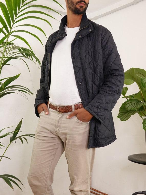 Barbour Jacket Black Quilted Barbour Coat Barbour… - image 3