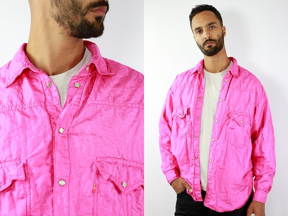 DIESEL Vintage Windbreaker Vintage Track Jacket Retro Windbreaker Pink Vintage Jacket Vintage 90s Windbreaker 90s Track Jacket Retro