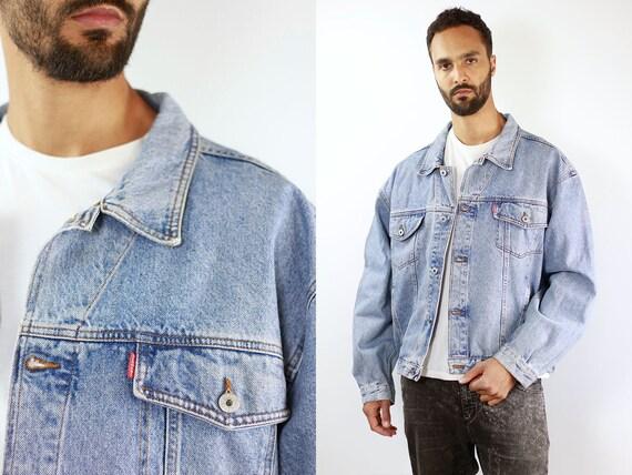 Denim Jacket Vintage Denim Jacket Oversize Denim Jacket 80s Denim Jacket 90s Jean Jacket Light Jean Jacket Large Denim Jackets Jeans JJ211
