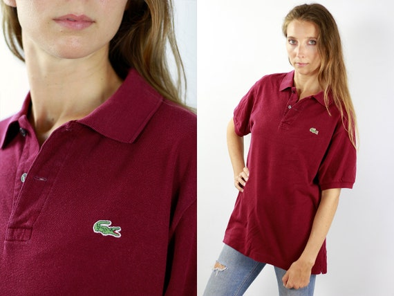 LACOSTE Polo Shirt Lacoste Poloshirt Red Poloshirt Lacoste Vintage Red Top 90s Top Lacoste Top Lacoste T-Shirt Red 90s Top Lacoste Shirt 90s