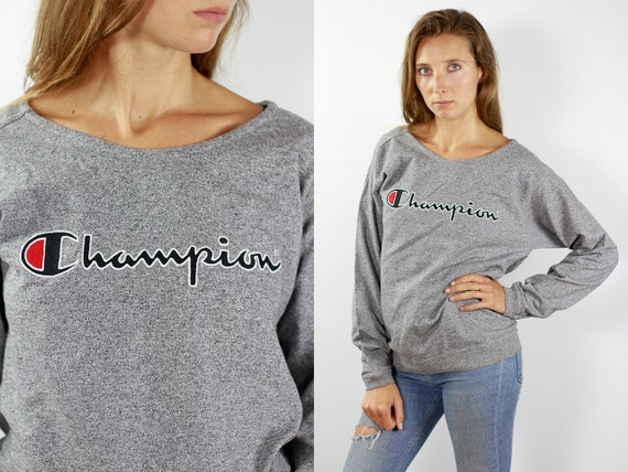 Champion Sweatshirt Grey Champion Sweater 90s Champion 90s Sweater Champion Sweat Shirt Oversize Sweat Shirt Grey Sweater Jumper Champion